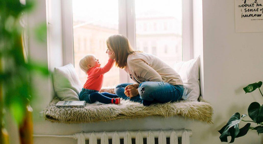 Mutter Kind Kur mit Kleinkind