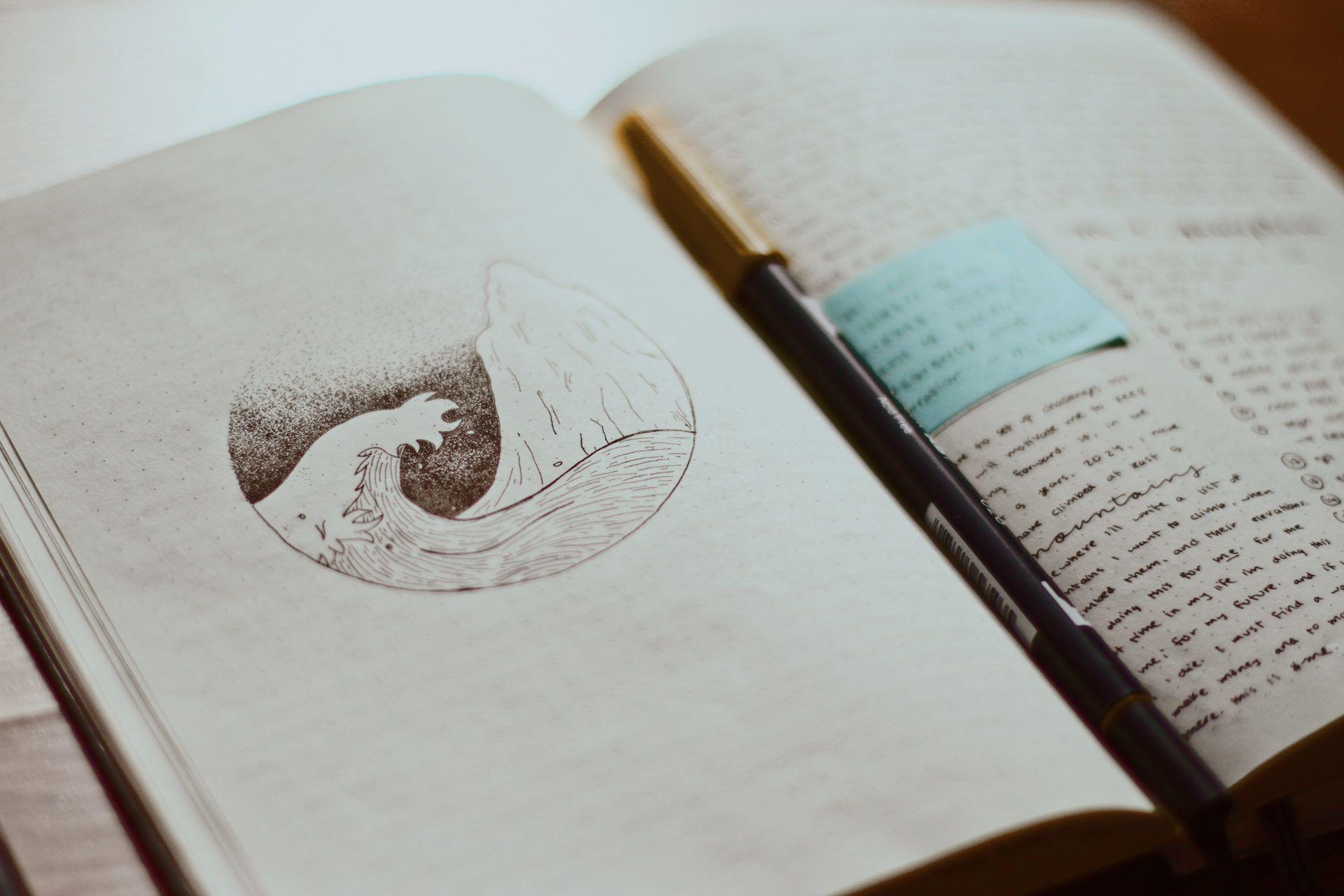 geöffnetes Kurtagebuch
